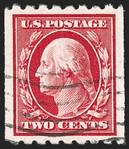 Sale Number 1202, Lot Number 2412, 1910-13 Perf 8.5 Horizontal Coils, Single-Line Watermark (Scott 392-396)2c Carmine, Coil (391), 2c Carmine, Coil (391)