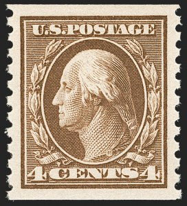 Sale Number 1202, Lot Number 2503, 1914 Perf 10 Horizontal Coils, Single-Line Watermark (Scott 443-447)4c Brown, Coil (446), 4c Brown, Coil (446)