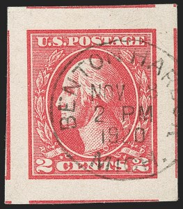 Sale Number 1202, Lot Number 2649, 1918-20 Offset Imperforate Issue (Scott 533-534B)2c Carmine, Ty. VI, Imperforate (534A), 2c Carmine, Ty. VI, Imperforate (534A)