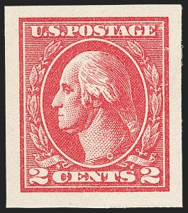 Sale Number 1202, Lot Number 2650, 1918-20 Offset Imperforate Issue (Scott 533-534B)2c Carmine, Ty. VII, Imperforate (534B), 2c Carmine, Ty. VII, Imperforate (534B)