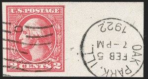 Sale Number 1202, Lot Number 2652, 1918-20 Offset Imperforate Issue (Scott 533-534B)2c Carmine, Ty. VII, Imperforate (534B), 2c Carmine, Ty. VII, Imperforate (534B)