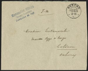 "Sale Number 1203, Lot Number 113, French Togo - Postal History (by Date)TOGO (French), 1915 ""Franchise Militaire"" Cover, TOGO (French), 1915 ""Franchise Militaire"" Cover"