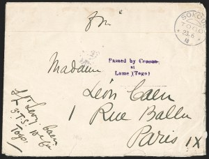 "Sale Number 1203, Lot Number 114, French Togo - Postal History (by Date)TOGO (French), 1916 ""Franchise Militaire"" Cover, TOGO (French), 1916 ""Franchise Militaire"" Cover"