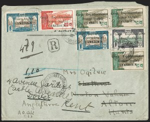 Sale Number 1203, Lot Number 137, French CamerounCAMEROUN (French), 1916 Cameroun Forwarded Cover to England, CAMEROUN (French), 1916 Cameroun Forwarded Cover to England