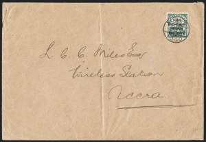 Sale Number 1203, Lot Number 18, British Togo - Second (Narrow) SettingTOGO (British), 1914, 1p on 5pf Green, Second Setting (47; SG H28; Gibbs 28), TOGO (British), 1914, 1p on 5pf Green, Second Setting (47; SG H28; Gibbs 28)