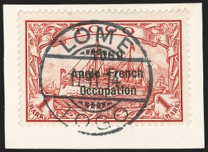Sale Number 1203, Lot Number 33, British Togo - Second (Narrow) SettingTOGO (British), 1914, 1m Carmine, Second Setting (57; SG H23; Gibbs 23), TOGO (British), 1914, 1m Carmine, Second Setting (57; SG H23; Gibbs 23)
