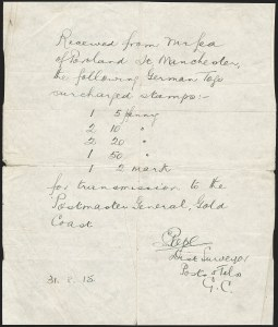 Sale Number 1203, Lot Number 37, British Togo - Third SettingThe Remarkable John E. Lea Forgeries of British Togo, The Remarkable John E. Lea Forgeries of British Togo