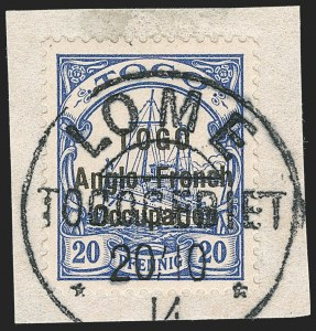 Sale Number 1203, Lot Number 47, British Togo - Individual SettingsTOGO (British), 1914, 20pf Ultramarine, Second Setting (51 var; SG H17 var; Gibbs 17 var), TOGO (British), 1914, 20pf Ultramarine, Second Setting (51 var; SG H17 var; Gibbs 17 var)