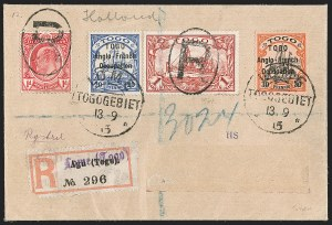 Sale Number 1203, Lot Number 65, British Togo - Later IssuesTOGO (British), 1915 Registered Covers to the Netherlands, TOGO (British), 1915 Registered Covers to the Netherlands