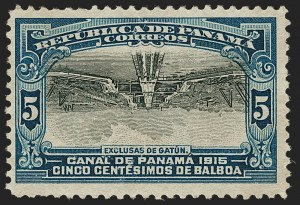 Sale Number 1204, Lot Number 1115, Italy thru PanamaPANAMA, 1915, 5c Gatun Locks, Inverted Center (210a), PANAMA, 1915, 5c Gatun Locks, Inverted Center (210a)