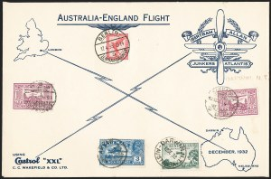 Sale Number 1204, Lot Number 1164, Trans-Oceanic Flights (Chronological by AAMC)1933, April 17, Bertram Round the World Return Flight to Germany (AAMC 1162), 1933, April 17, Bertram Round the World Return Flight to Germany (AAMC 1162)