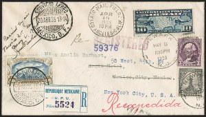 Sale Number 1204, Lot Number 1170, Trans-Oceanic Flights (Chronological by AAMC)1935 Amelia Earhart Mexico-New York Flight Cover (AAMC 1231b), 1935 Amelia Earhart Mexico-New York Flight Cover (AAMC 1231b)