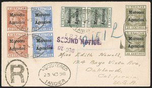 Sale Number 1204, Lot Number 219, Great Britain thru BermudaGREAT BRITAIN, Offices in Morocco, 1899, 5c Green, 20c Olive Green, 25c Ultramarine, 40c Orange Brown (12, 14-16; SG 9, 11-13), GREAT BRITAIN, Offices in Morocco, 1899, 5c Green, 20c Olive Green, 25c Ultramarine, 40c Orange Brown (12, 14-16; SG 9, 11-13)