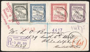 Sale Number 1204, Lot Number 241, Cook Islands thru IndiaCOOK ISLANDS, 1892, 1p-10p Seven Stars, White Paper (5-8; SG 1-4), COOK ISLANDS, 1892, 1p-10p Seven Stars, White Paper (5-8; SG 1-4)
