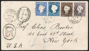 Sale Number 1204, Lot Number 245, Cook Islands thru IndiaGAMBIA, 1886-93, 2-1/2p Deep Bright Blue, 4p Deep Brown, 1sh Violet (15, 17, 19; SG 27, 30, 36), GAMBIA, 1886-93, 2-1/2p Deep Bright Blue, 4p Deep Brown, 1sh Violet (15, 17, 19; SG 27, 30, 36)