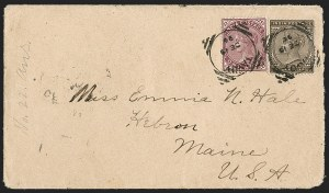 Sale Number 1204, Lot Number 255, Cook Islands thru IndiaINDIA, Used in Burma, 1882-87, 1a Maroon, 1a6p Bister Brown (38-39; SG 88, 90), INDIA, Used in Burma, 1882-87, 1a Maroon, 1a6p Bister Brown (38-39; SG 88, 90)