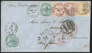 Sale Number 1204, Lot Number 256, Cook Islands thru IndiaINDIA, Used in Burma, -1/2a Blue, 2a Brownish Orange, 8a Rose (20, 23, 25; SG 54, 63, 65), INDIA, Used in Burma, -1/2a Blue, 2a Brownish Orange, 8a Rose (20, 23, 25; SG 54, 63, 65)