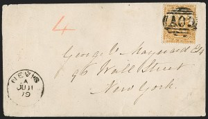 Sale Number 1204, Lot Number 266, Jamaica thru St. HelenaNEVIS, 1876, 4p Orange (15; SG 18), NEVIS, 1876, 4p Orange (15; SG 18)