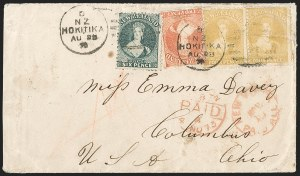 Sale Number 1204, Lot Number 267, Jamaica thru St. HelenaNEW ZEALAND, 1865, 4p Yellow (35; SG 120), NEW ZEALAND, 1865, 4p Yellow (35; SG 120)