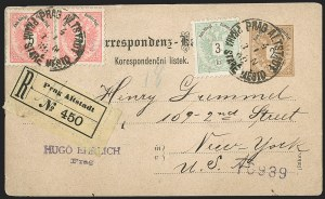 Sale Number 1204, Lot Number 298, Austria incl. Used in the LevantAUSTRIA, 1883, 3kr Green, 5kr Rose (42-43), AUSTRIA, 1883, 3kr Green, 5kr Rose (42-43)