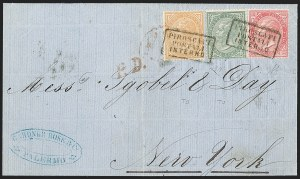 Sale Number 1204, Lot Number 378, Italian States thru Portugal & ColoniesITALY, 1863, 5c Slate Green, 10c Buff, 40c Carmine, Turin Printing (26-27, 31; T16-T17, T20), ITALY, 1863, 5c Slate Green, 10c Buff, 40c Carmine, Turin Printing (26-27, 31; T16-T17, T20)