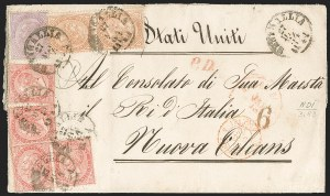 Sale Number 1204, Lot Number 380, Italian States thru Portugal & ColoniesITALY, 1863, 60c Lilac, De La Rue Printing (32; Sassone L21), ITALY, 1863, 60c Lilac, De La Rue Printing (32; Sassone L21)