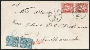 Sale Number 1204, Lot Number 383, Italian States thru Portugal & ColoniesNORWAY, 1872, 3s Carmine on Bluish Thin Paper (18b; Facit 18a), NORWAY, 1872, 3s Carmine on Bluish Thin Paper (18b; Facit 18a)