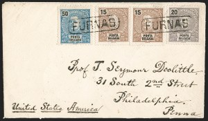 Sale Number 1204, Lot Number 390, Italian States thru Portugal & ColoniesPONTA DELGADA, 1897, 15r Brown, 20r Dull Violet, 50r Blue (16, 18, 21), PONTA DELGADA, 1897, 15r Brown, 20r Dull Violet, 50r Blue (16, 18, 21)
