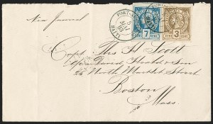 Sale Number 1204, Lot Number 431, Haiti thru PeruHAITI, 1881, 3c Gray Bister on Pale Bister, 7c Deep Blue on Grayish (3, 5), HAITI, 1881, 3c Gray Bister on Pale Bister, 7c Deep Blue on Grayish (3, 5)