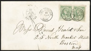 Sale Number 1204, Lot Number 433, Haiti thru PeruHAITI, 1882, 5c Blue Green on Greenish (10), HAITI, 1882, 5c Blue Green on Greenish (10)