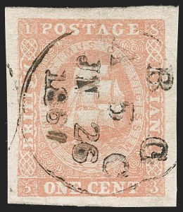 Sale Number 1204, Lot Number 544, British Central Africa thru Canadian ProvincesBRITISH GUIANA, 1853, 1c Brownish Red, Ty. I (9d; SG 13), BRITISH GUIANA, 1853, 1c Brownish Red, Ty. I (9d; SG 13)