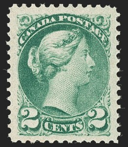 Sale Number 1204, Lot Number 609, Canada - 1870-97 Small QueensCANADA, 1890s, 2c Green, Ottawa Printing (Unitrade 36i), CANADA, 1890s, 2c Green, Ottawa Printing (Unitrade 36i)