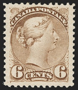Sale Number 1204, Lot Number 611, Canada - 1870-97 Small QueensCANADA, 1872, 6c Cold Brown (39 var; SG 98 var), CANADA, 1872, 6c Cold Brown (39 var; SG 98 var)