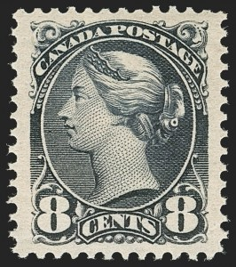 Sale Number 1204, Lot Number 615, Canada - 1870-97 Small QueensCANADA, 1893, 8c Violet Black (44; SG 117), CANADA, 1893, 8c Violet Black (44; SG 117)