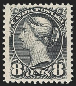 Sale Number 1204, Lot Number 616, Canada - 1870-97 Small QueensCANADA, 1893, 8c Violet Black (44; SG 117), CANADA, 1893, 8c Violet Black (44; SG 117)