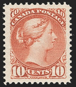 Sale Number 1204, Lot Number 617, Canada - 1870-97 Small QueensCANADA, 1897, 10c Brown Red (45; SG 111), CANADA, 1897, 10c Brown Red (45; SG 111)