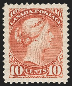 Sale Number 1204, Lot Number 618, Canada - 1870-97 Small QueensCANADA, 1897, 10c Brown Red (45; SG 110), CANADA, 1897, 10c Brown Red (45; SG 110)