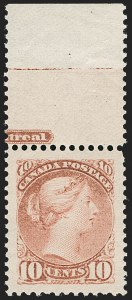 Sale Number 1204, Lot Number 619, Canada - 1870-97 Small QueensCANADA, 1897, 10c Dull Rose (45a), CANADA, 1897, 10c Dull Rose (45a)