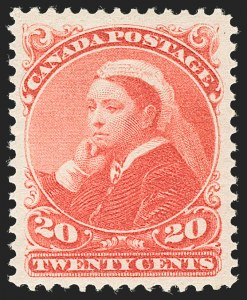 Sale Number 1204, Lot Number 621, Canada - 1870-97 Small QueensCANADA, 1893, 20c Vermilion (46; SG 115), CANADA, 1893, 20c Vermilion (46; SG 115)