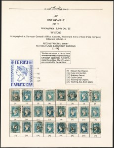 Sale Number 1204, Lot Number 759, India - 1854 Lithograph IssuesINDIA, 1854, -1/2a Blue (SG 8-10; Scott 2), INDIA, 1854, -1/2a Blue (SG 8-10; Scott 2)