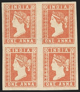 Sale Number 1204, Lot Number 762, India - 1854 Lithograph IssuesINDIA, 1854, 1a Red (SG 14; Scott 4), INDIA, 1854, 1a Red (SG 14; Scott 4)