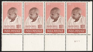Sale Number 1204, Lot Number 805, India - 1948 Gandhi IssueINDIA, 1948, 10r Rose Brown & Brown, Gandhi (SG 308; Scott 206), INDIA, 1948, 10r Rose Brown & Brown, Gandhi (SG 308; Scott 206)