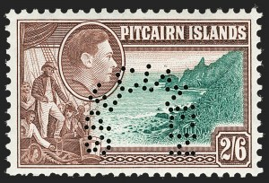 "Sale Number 1204, Lot Number 902, Northern Rhodesia thru St. VincentPITCAIRN ISLANDS, 1940, -1/2p-2sh6p King George VI, Perforated ""Specimen"" (1S-8S; SG 1s-8s), PITCAIRN ISLANDS, 1940, -1/2p-2sh6p King George VI, Perforated ""Specimen"" (1S-8S; SG 1s-8s)"