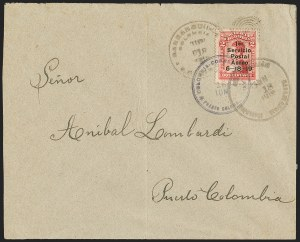 Sale Number 1204, Lot Number 948, Colombia Air Post - 1919 Knox Martin IssueCOLOMBIA, 1919, 2c Knox Martin Air Post (C1), COLOMBIA, 1919, 2c Knox Martin Air Post (C1)