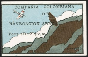 "Sale Number 1204, Lot Number 962, Colombia Air Post - 1920 CCNA First IssueCOLOMBIA, 1920, 10c ""SCADTA"", Condor on Cliff (C8), COLOMBIA, 1920, 10c ""SCADTA"", Condor on Cliff (C8)"