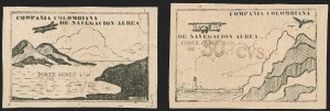 "Sale Number 1204, Lot Number 966, Colombia Air Post - Other 1920 CCNA IssuesCOLOMBIA, 1920, ""30 cvs"" on 10c Black on Yellowish, Air Post Essay Surcharges (C11A-C11B Essays), COLOMBIA, 1920, ""30 cvs"" on 10c Black on Yellowish, Air Post Essay Surcharges (C11A-C11B Essays)"