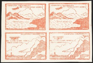 Sale Number 1204, Lot Number 977, Colombia Air Post - Other 1920 CCNA IssuesCOLOMBIA, 1920, 10c Red Brown, Air Post (C11C-C11D; Sanabria 16-16A), COLOMBIA, 1920, 10c Red Brown, Air Post (C11C-C11D; Sanabria 16-16A)