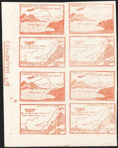 Sale Number 1204, Lot Number 979, Colombia Air Post - Other 1920 CCNA IssuesCOLOMBIA, 1920, 10c Vermilion, Air Post (C11Ck, C11Dm; Sanabria 14-15), COLOMBIA, 1920, 10c Vermilion, Air Post (C11Ck, C11Dm; Sanabria 14-15)
