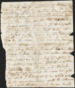 "Sale Number 1205, Lot Number 2002, Stampless Covers, Colonial thru Free FranksWar of 1812 -- The ""Bottle Letter"" from an Impressed American Sailor, War of 1812 -- The ""Bottle Letter"" from an Impressed American Sailor"