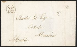 Sale Number 1205, Lot Number 2003, Stampless Covers, Colonial thru Free FranksAlexander Hamilton, Alexander Hamilton